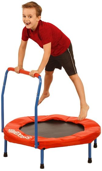 "Kangaroo's 36"" kids trampoline with bar"