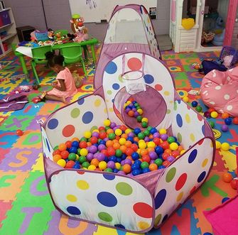 Playz-3-Piece-Kids-Play-Tent-Craw-Tunnel-Ball-Pit-2