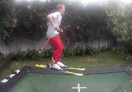 winterizing-trampoline-skiing-on-trampoline