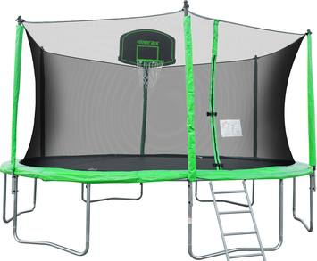 Review-Merax-12-feet-round-trampoline-with-safety-enclosure-basketball-hoop