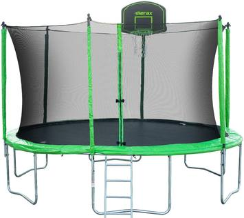 Review-Merax-14-feet-round-trampoline-with-safety-enclosure-basketball-hoop