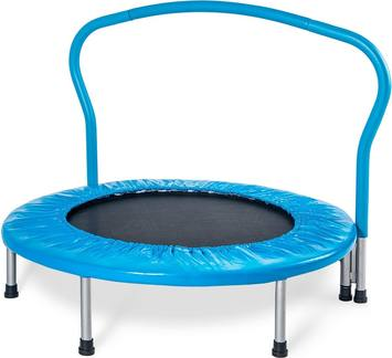 Review-Merax-36-kids-mini-exercise-trampoline-portable-with-handrail