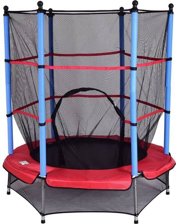 giantex-55-round-kids-mini-jumping-trampoline