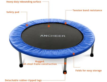 Ancheer-Rebounder-Trampoline-with-safety-pad-review