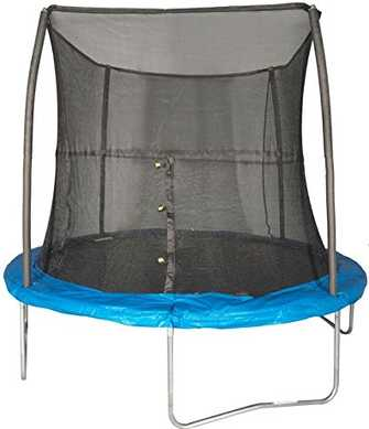 8ft-trampoline-with-enclosure-under-100-dollars-JumpKing-8-Foot-Outdoor-Trampoline