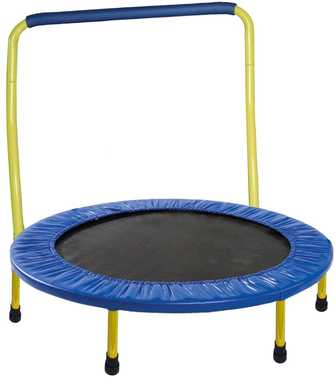 Best-kids-trampoline-under-50-US-dollars-TRAMPOLINE-FOR-KIDS-Portable-36-inc-with-Safety-Padded-Frame-Cover-and-Handle-Bar