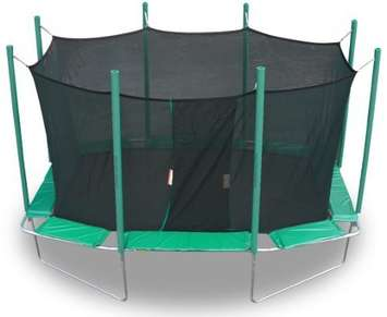 Magic-Circle-9-Ft-X-14-Ft-Rectagon-Trampoline-With-Safety-Cage