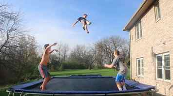 Trampoline-energy-transformations