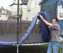 How to dispose of an old trampoline