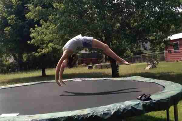 How to do a Back Handspring on a Trampoline the Easy Way