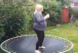 Is it safe to jump on a trampoline while pregnant