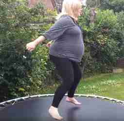 Trampoline during the late pregnancy - 37 weeks