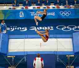 What are Olympic trampolines made of