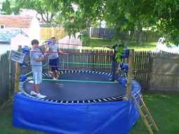 Converting a Trampoline into a Wrestling Ring in 10 Steps