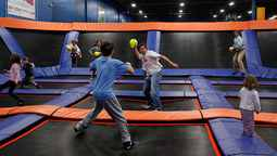 How do you play crossfire on a trampoline?