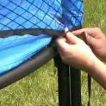 How to Put a Safety Net on a Trampoline
