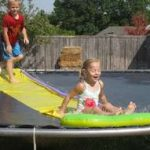 How to Make a Slip and Slide on a Trampoline