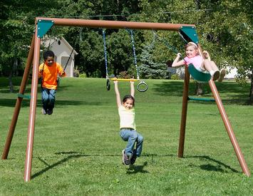 Best-Swing-Sets-for-Small-Yards-Swing-N-Slide-Orbiter-Complete-Wooden-Swing-Set