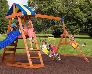 Swing-Set-For-Small-Yards-Backyard-Discovery-Dayton-All-Cedar-Wood-Playset-Swing-Set