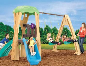 Swing-Set-For-Small-Yards-Little-Tikes-Tree-House-Swing